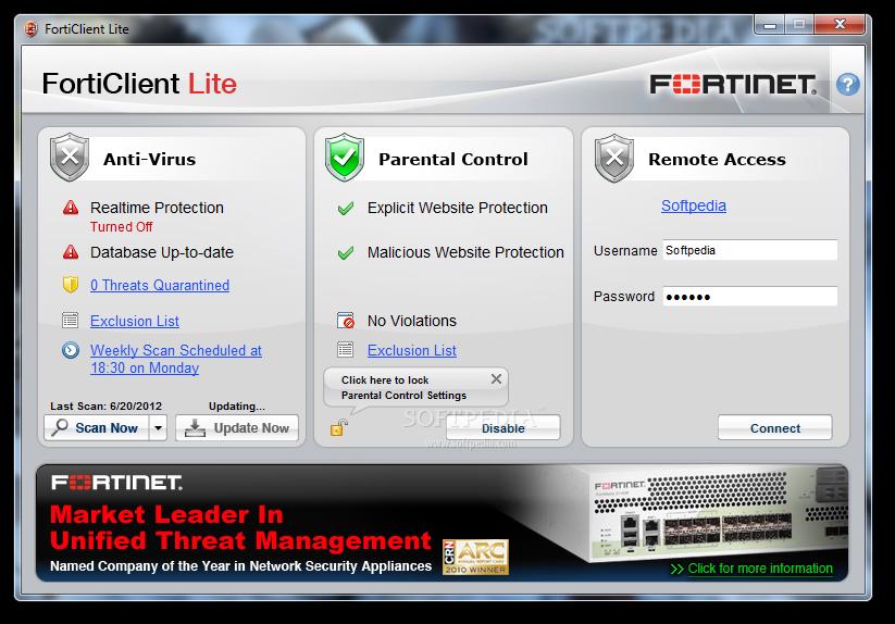 Diệt Virus, Spyware, Malware miễn phí bằng phần mềm FortiClient Lite